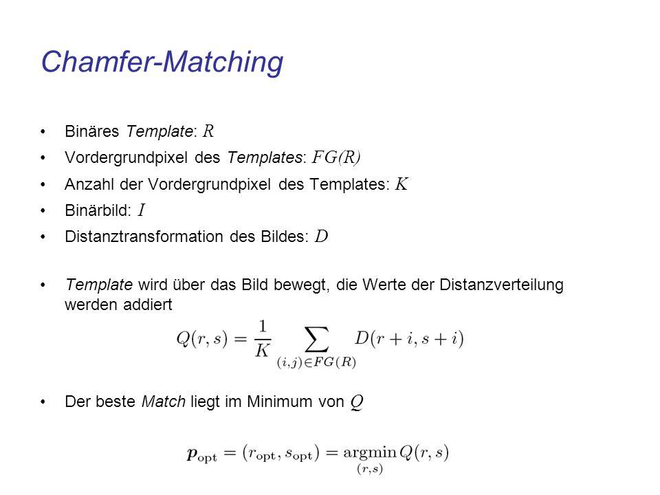 Chamfer-Matching Binäres Template: R