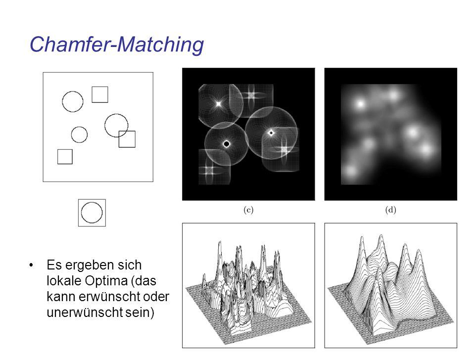 Chamfer-Matching Es ergeben sich lokale Optima (das kann erwünscht oder unerwünscht sein)