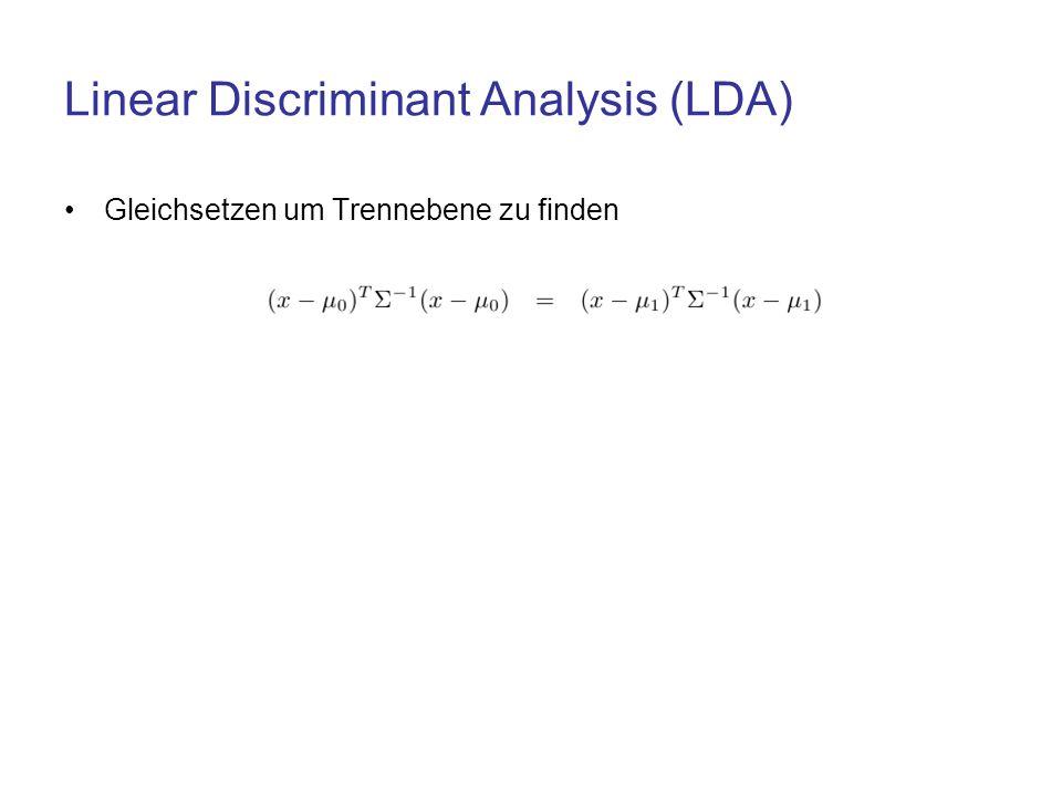 Linear Discriminant Analysis (LDA)