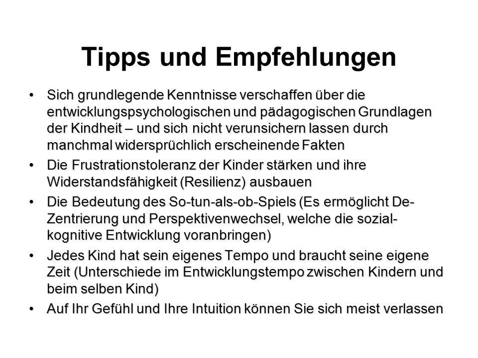 Tipps und Empfehlungen
