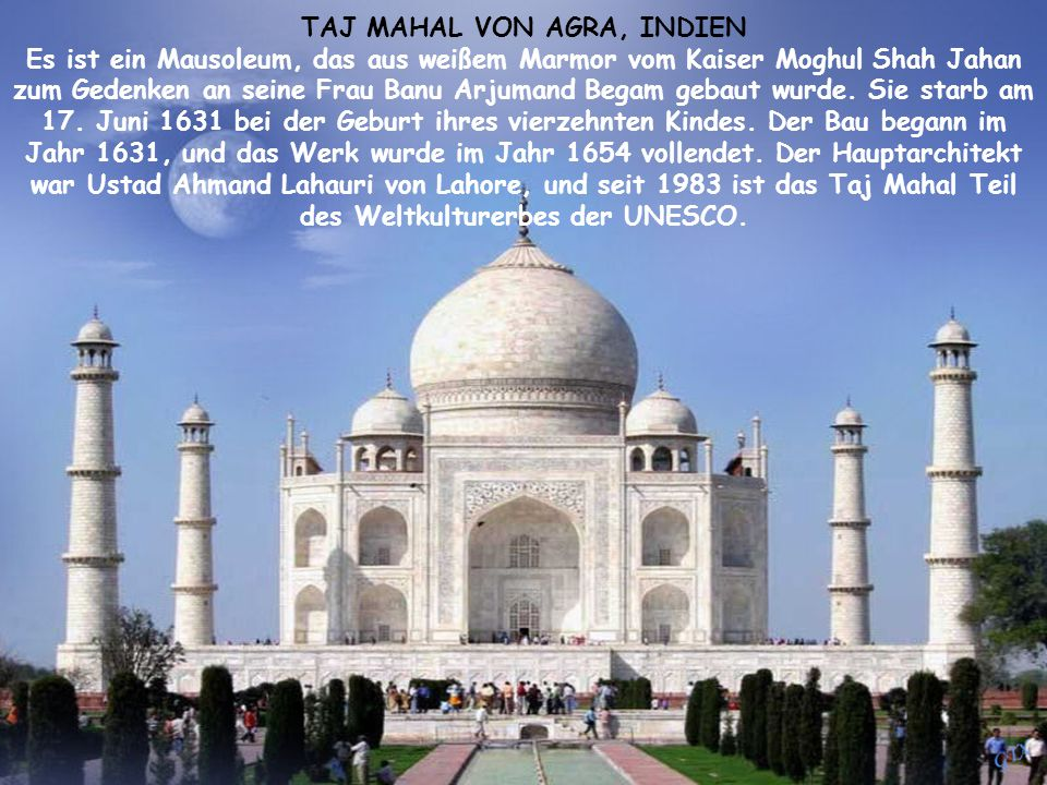 TAJ MAHAL VON AGRA, INDIEN