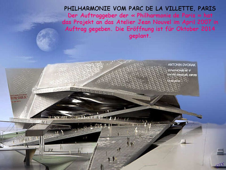 PHILHARMONIE VOM PARC DE LA VILLETTE, PARIS