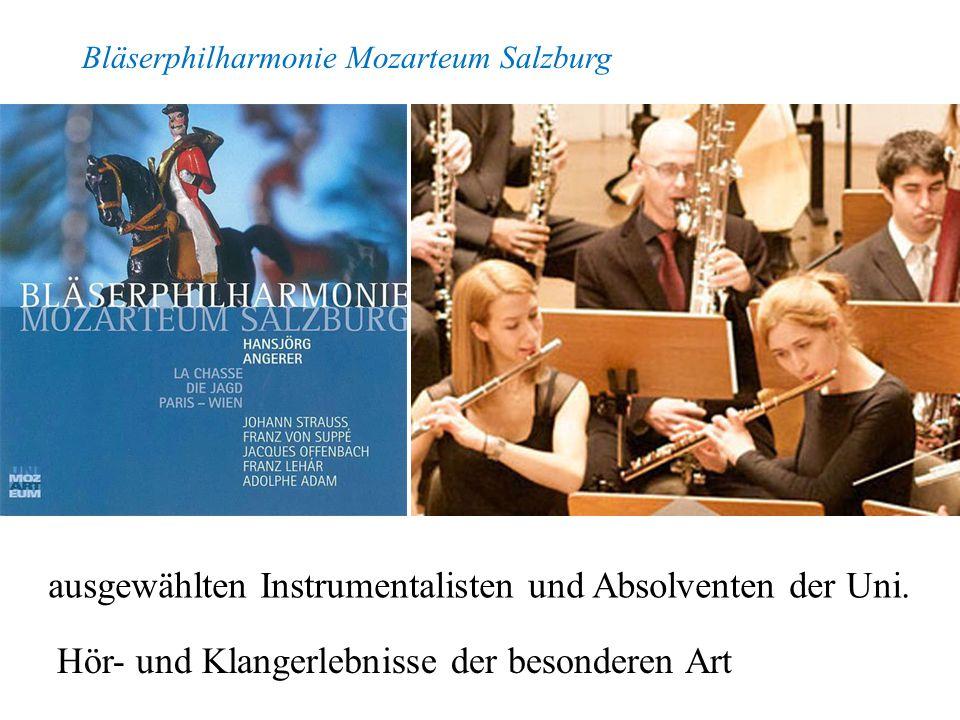 ausgewählten Instrumentalisten und Absolventen der Uni.