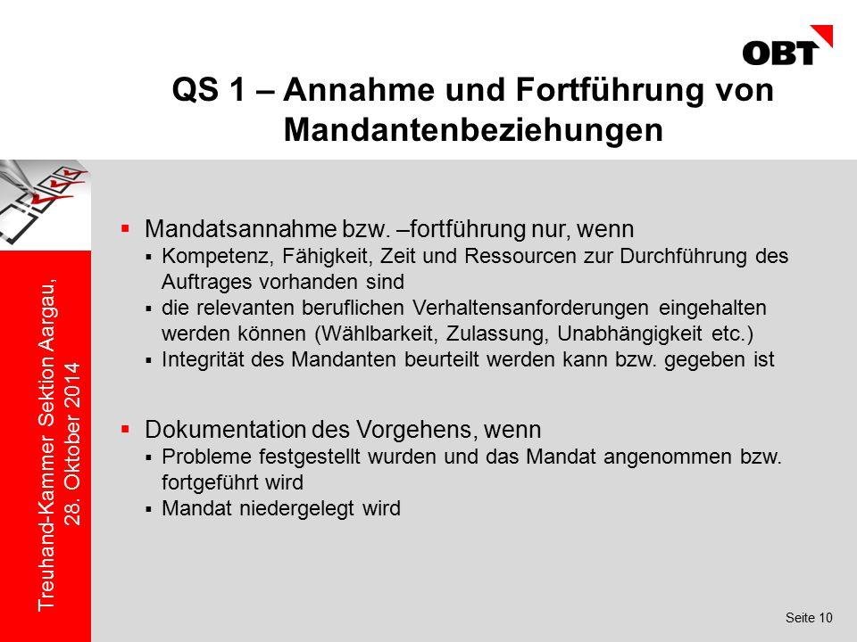 QS 1 – Annahme und Fortführung von Mandantenbeziehungen