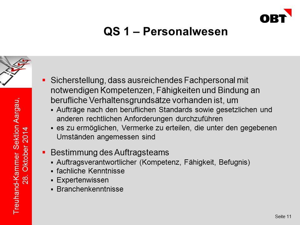 QS 1 – Personalwesen