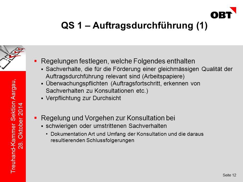 QS 1 – Auftragsdurchführung (1)