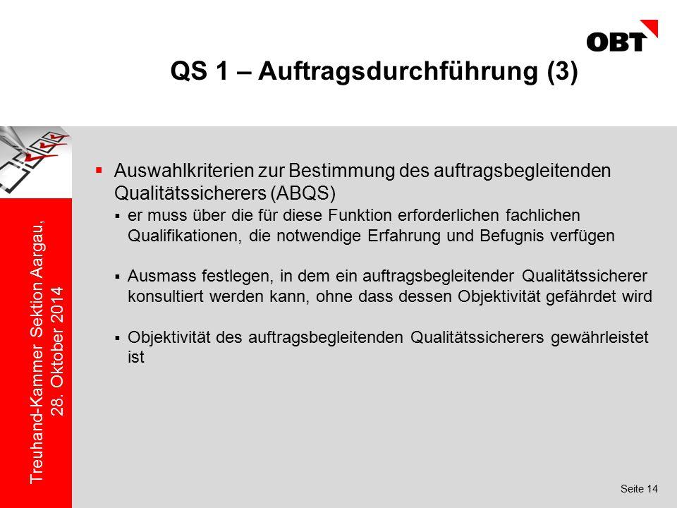 QS 1 – Auftragsdurchführung (3)