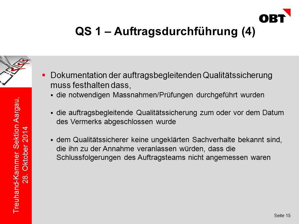 QS 1 – Auftragsdurchführung (4)
