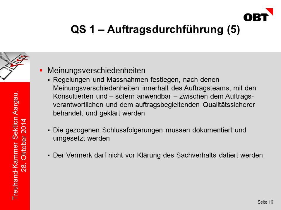 QS 1 – Auftragsdurchführung (5)