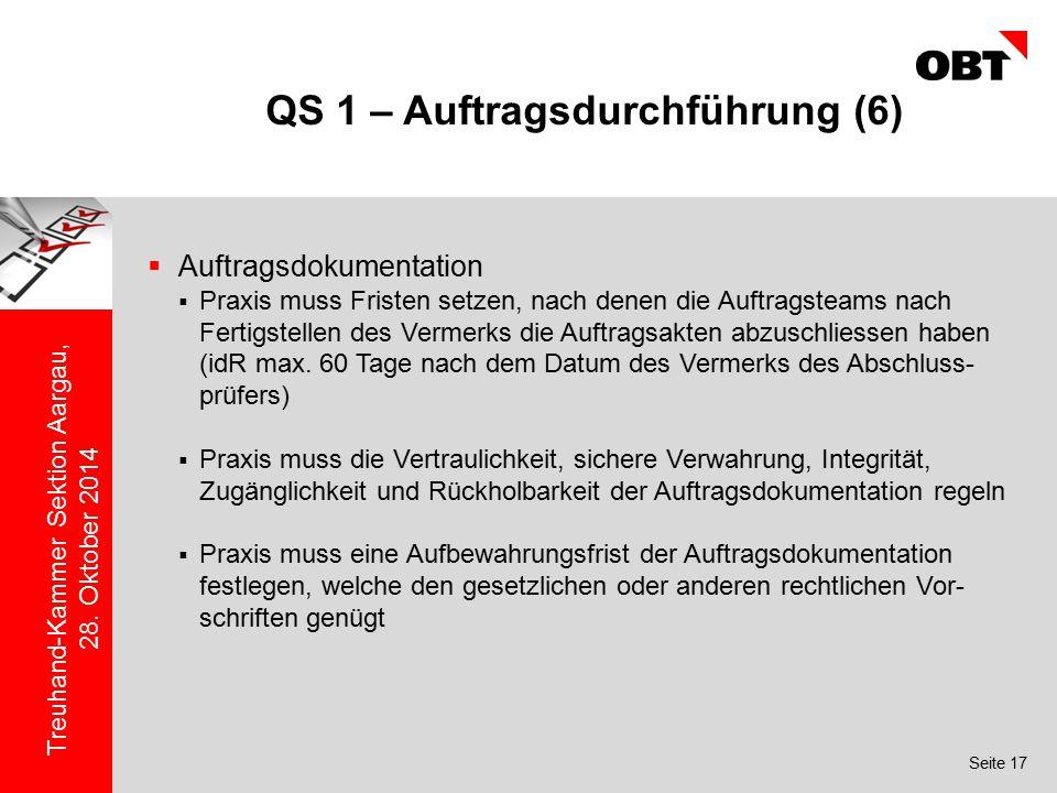 QS 1 – Auftragsdurchführung (6)