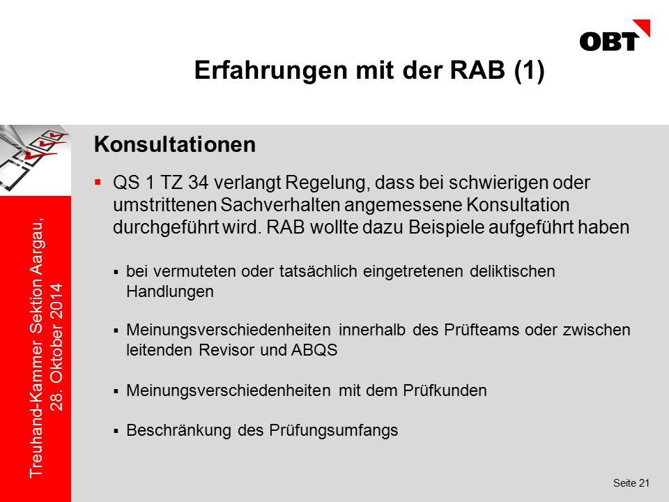 Erfahrungen mit der RAB (1)