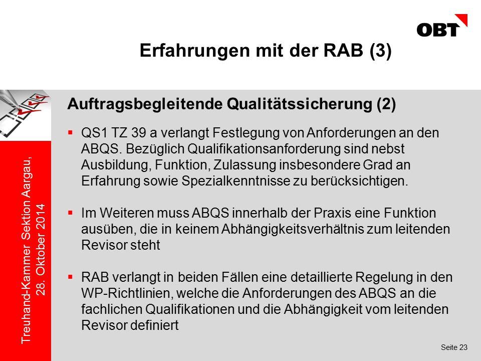 Erfahrungen mit der RAB (3)