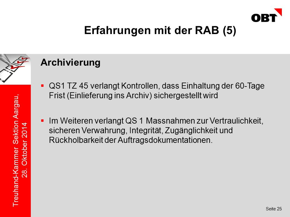Erfahrungen mit der RAB (5)