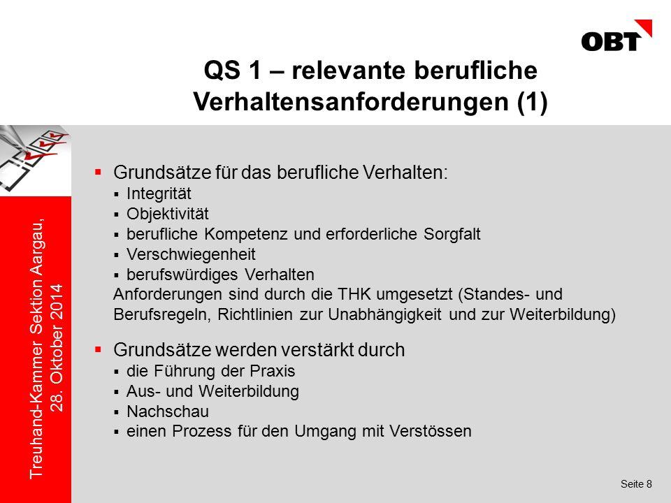QS 1 – relevante berufliche Verhaltensanforderungen (1)