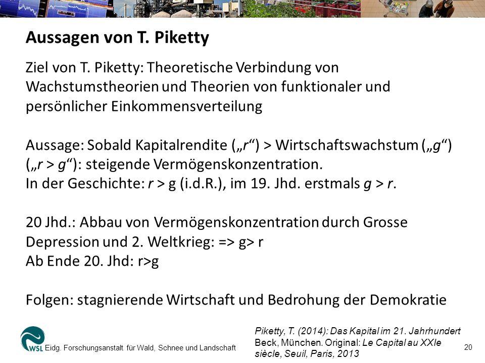 Aussagen von T. Piketty