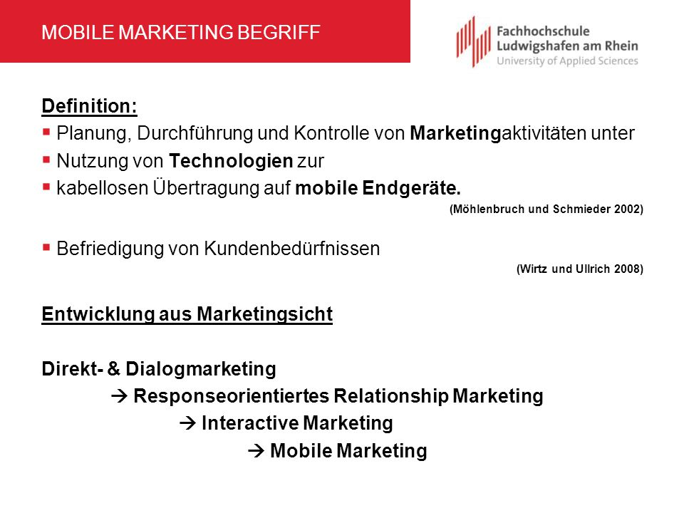 MOBILE MARKETING BEGRIFF