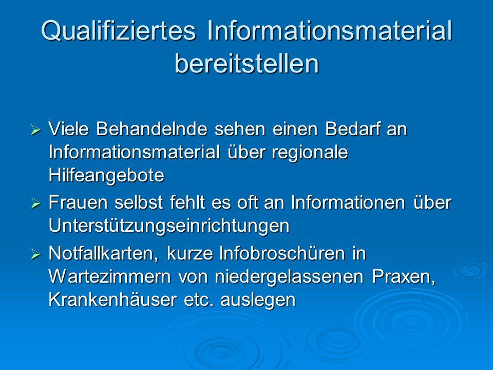 Qualifiziertes Informationsmaterial bereitstellen