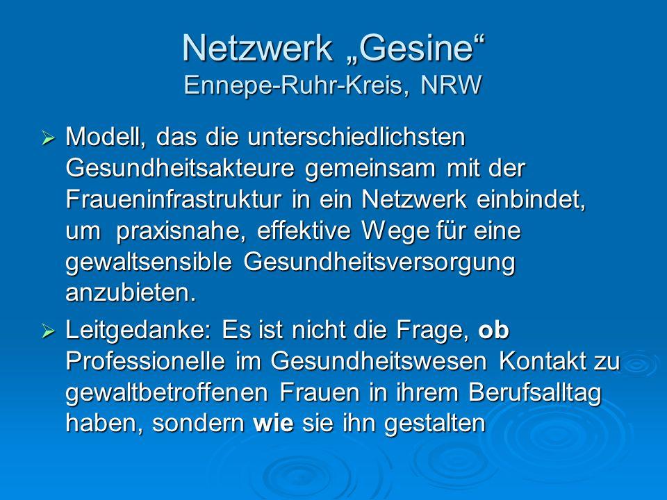 """Netzwerk """"Gesine Ennepe-Ruhr-Kreis, NRW"""