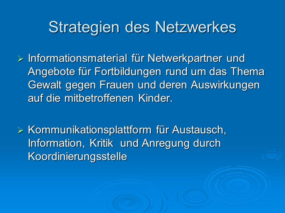 Strategien des Netzwerkes