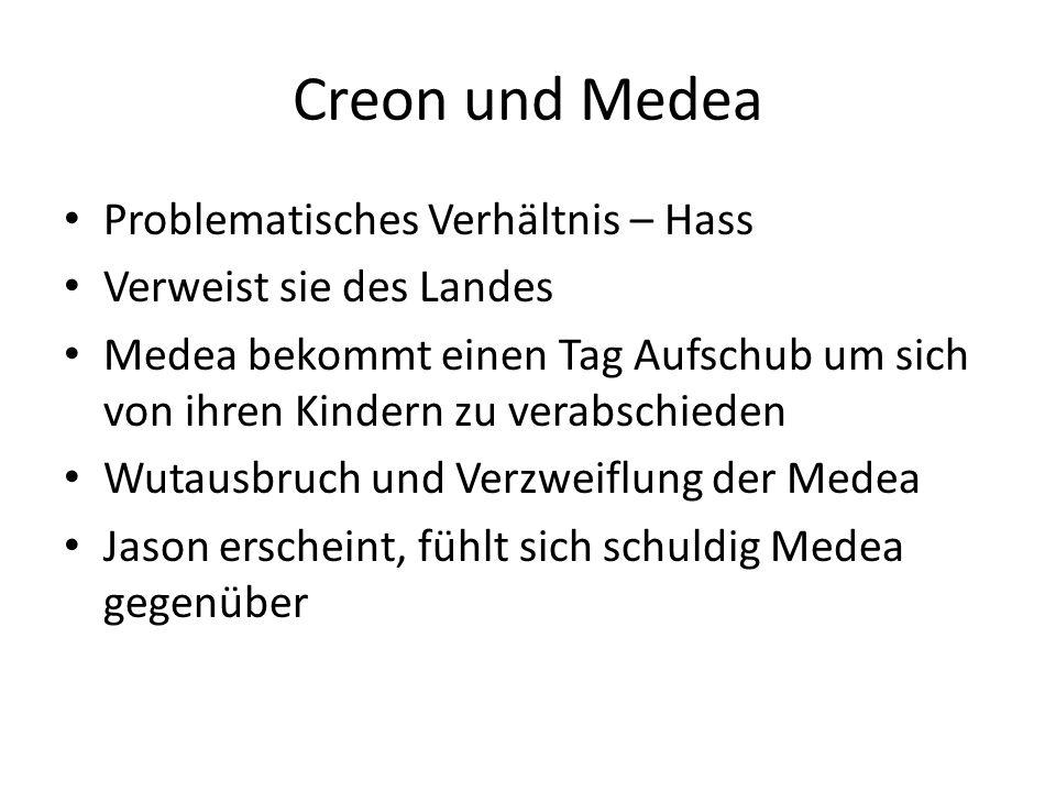 Creon und Medea Problematisches Verhältnis – Hass