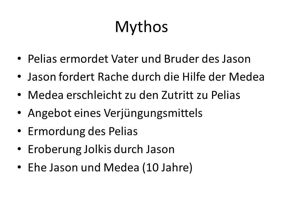 Mythos Pelias ermordet Vater und Bruder des Jason