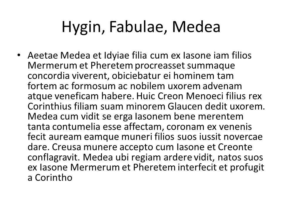 Hygin, Fabulae, Medea