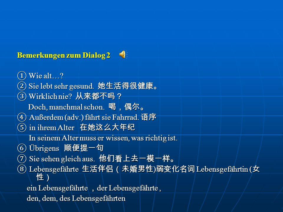 Bemerkungen zum Dialog 2