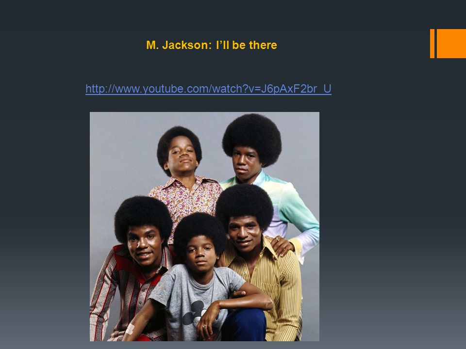 M. Jackson: I'll be there