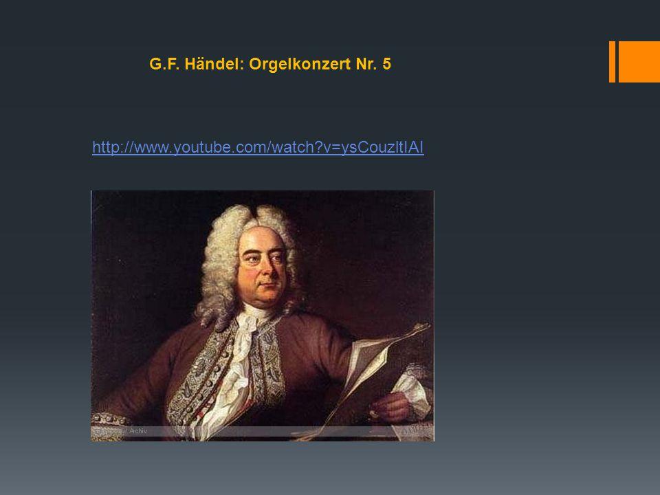 G.F. Händel: Orgelkonzert Nr. 5