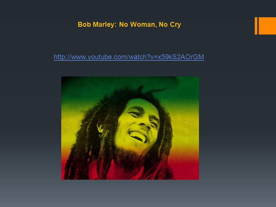 Bob Marley: No Woman, No Cry