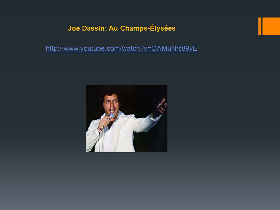 Joe Dassin: Au Champs-Élysées
