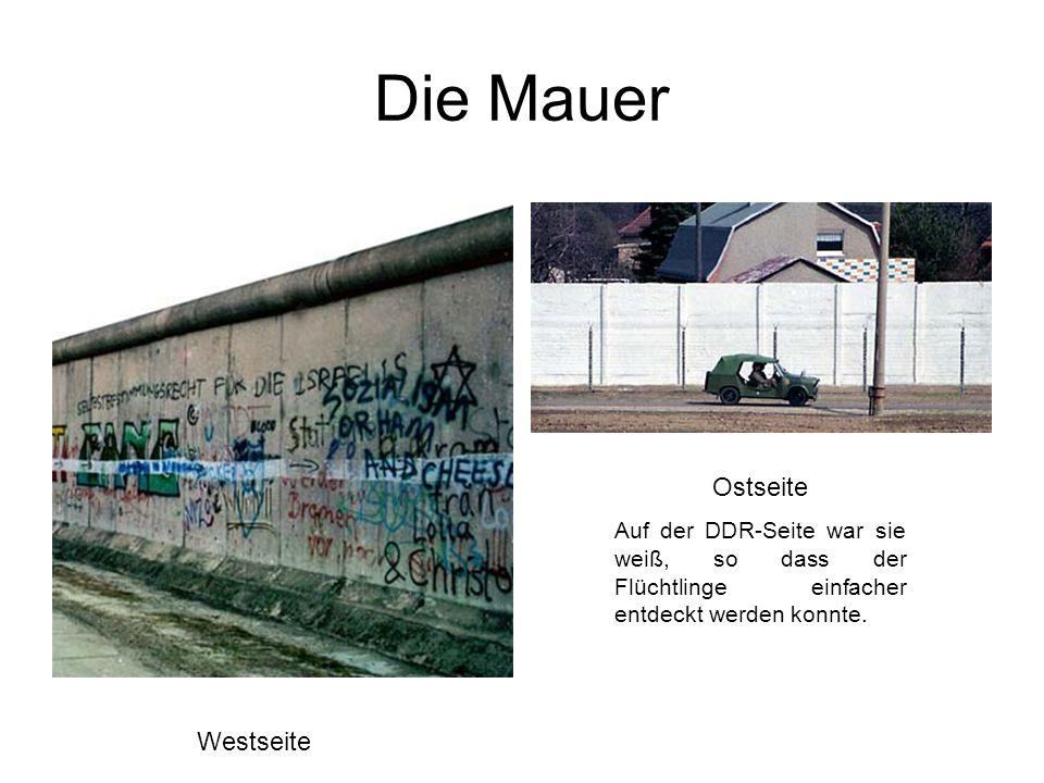 Die Mauer Ostseite Westseite