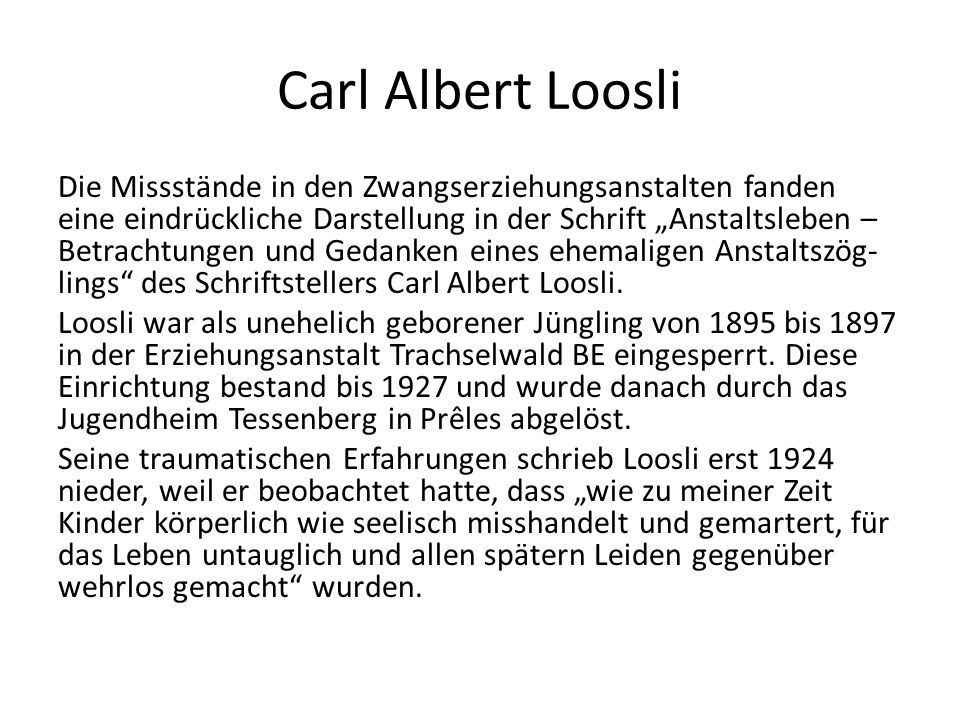 Carl Albert Loosli
