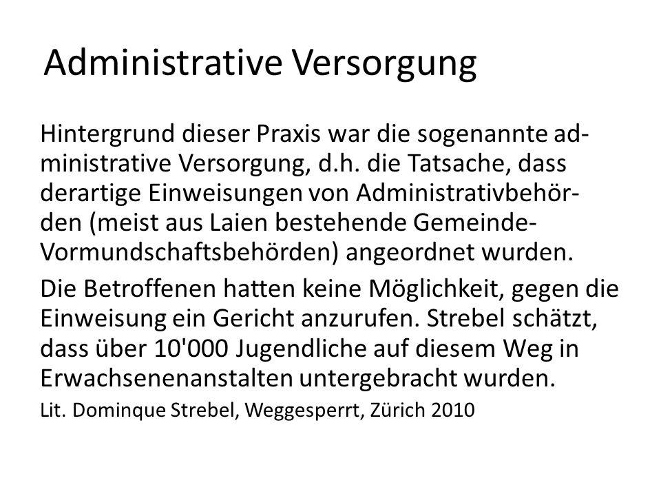 Administrative Versorgung