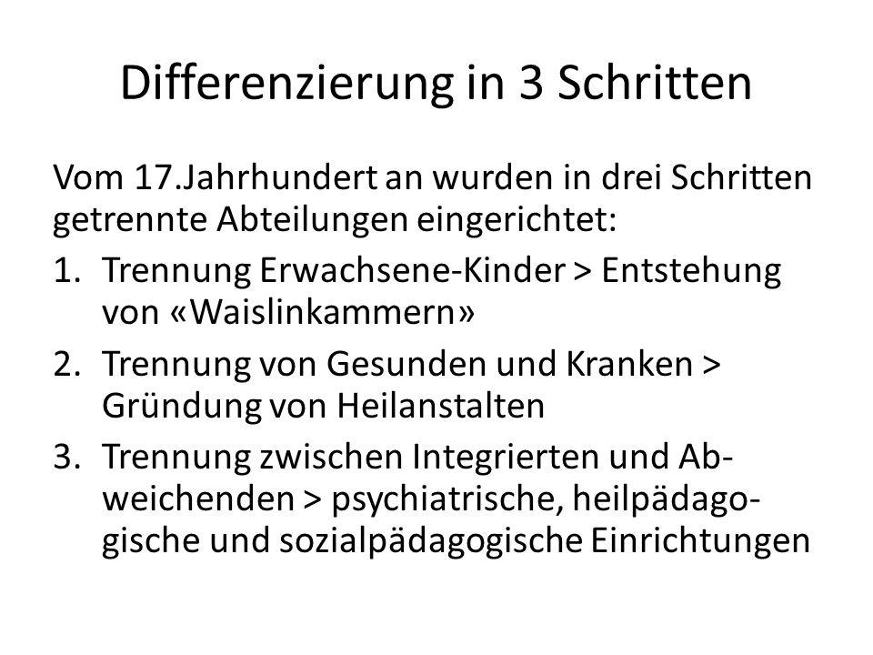 Differenzierung in 3 Schritten