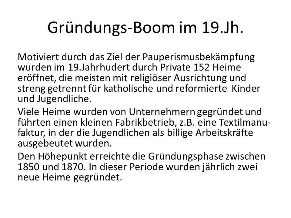 Gründungs-Boom im 19.Jh.