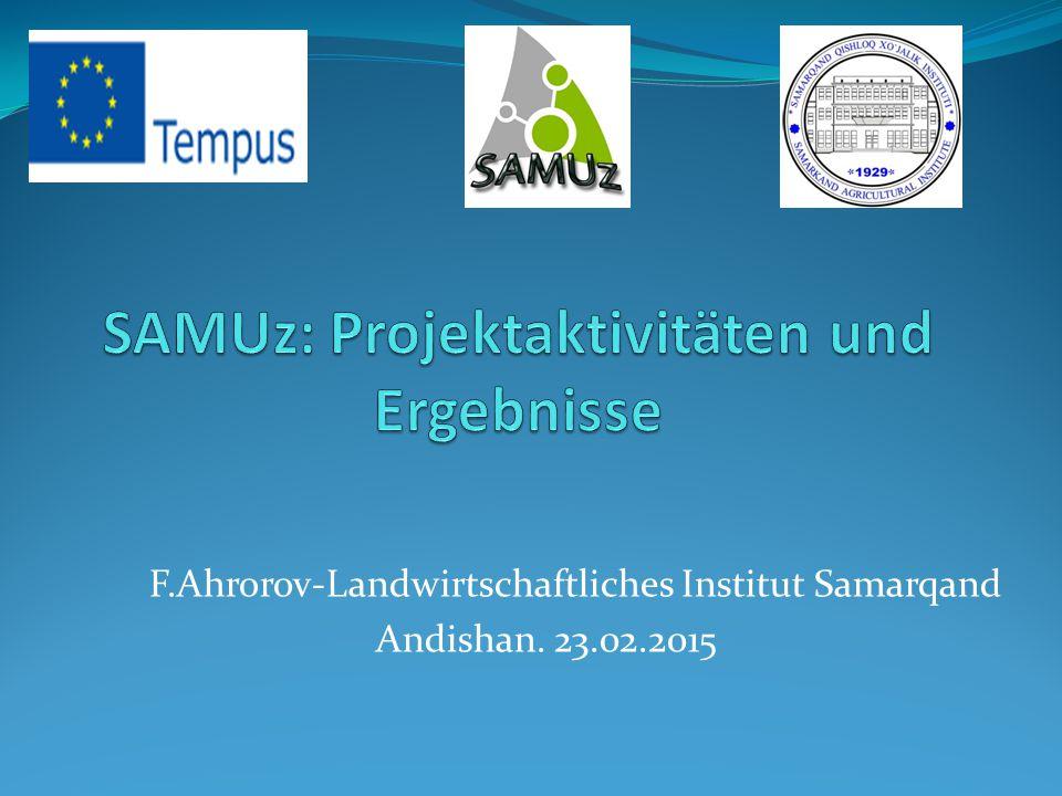 SAMUz: Projektaktivitäten und Ergebnisse