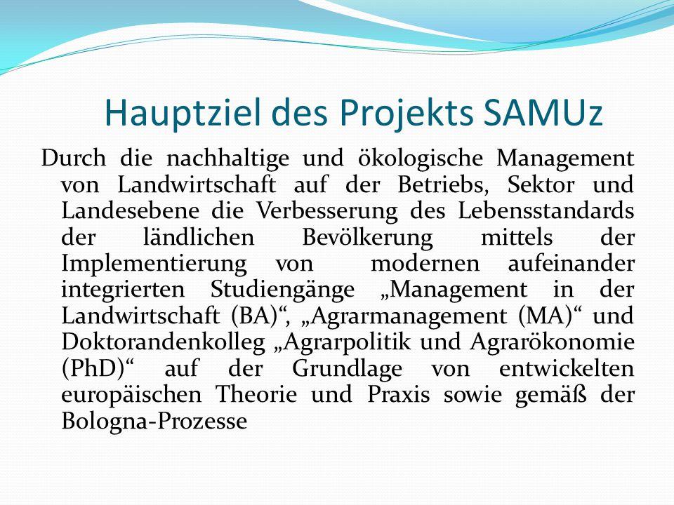 Hauptziel des Projekts SAMUz