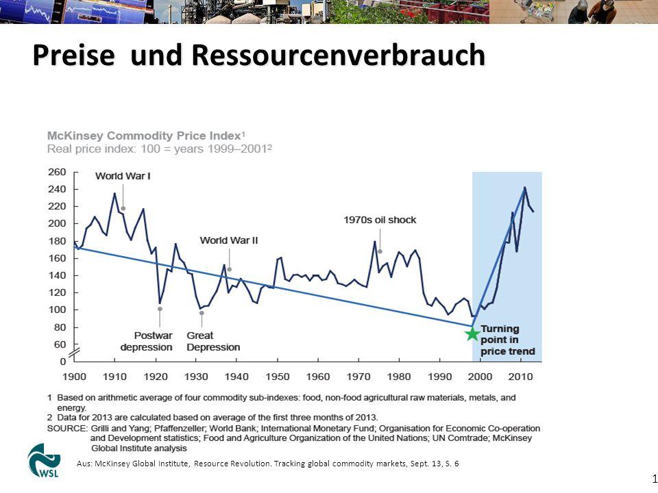 Preise und Ressourcenverbrauch