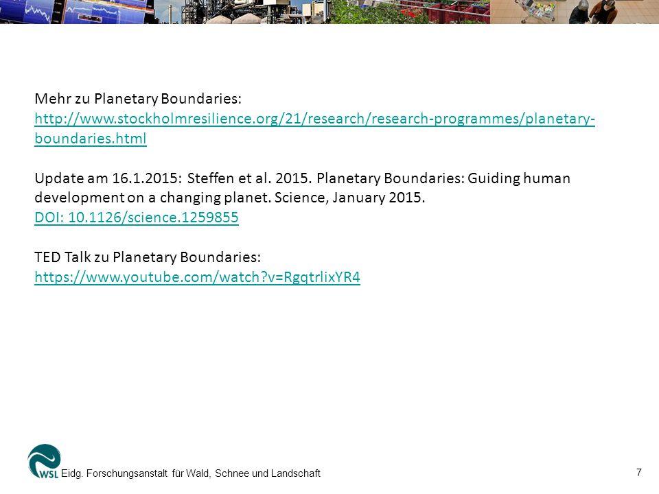 Mehr zu Planetary Boundaries: