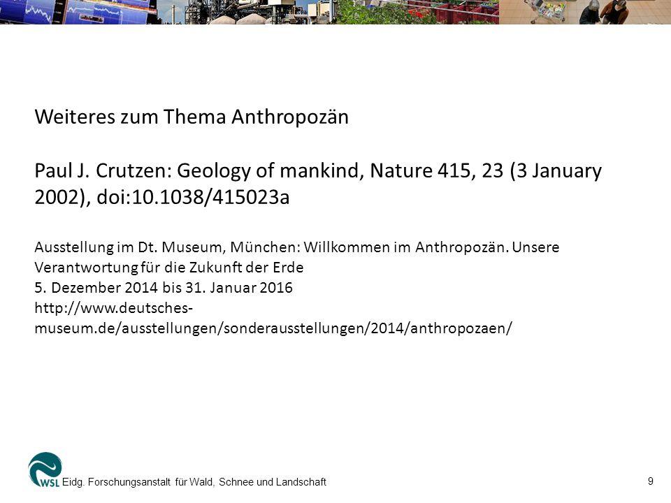 Weiteres zum Thema Anthropozän