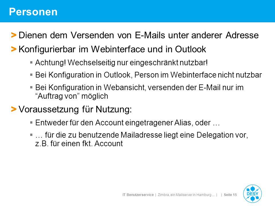 Personen Dienen dem Versenden von E-Mails unter anderer Adresse