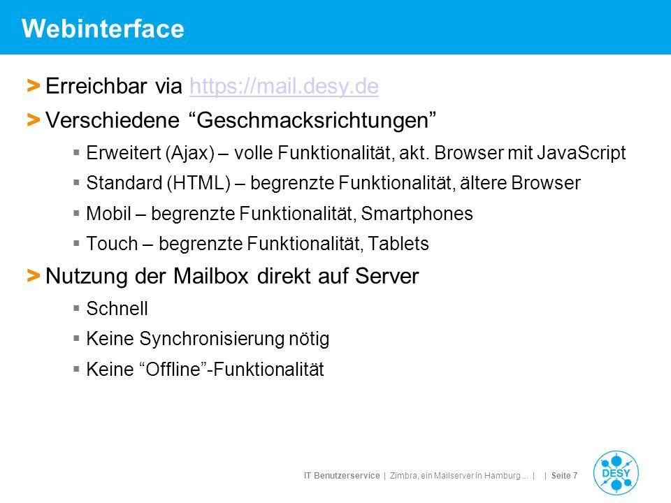 Webinterface Erreichbar via https://mail.desy.de