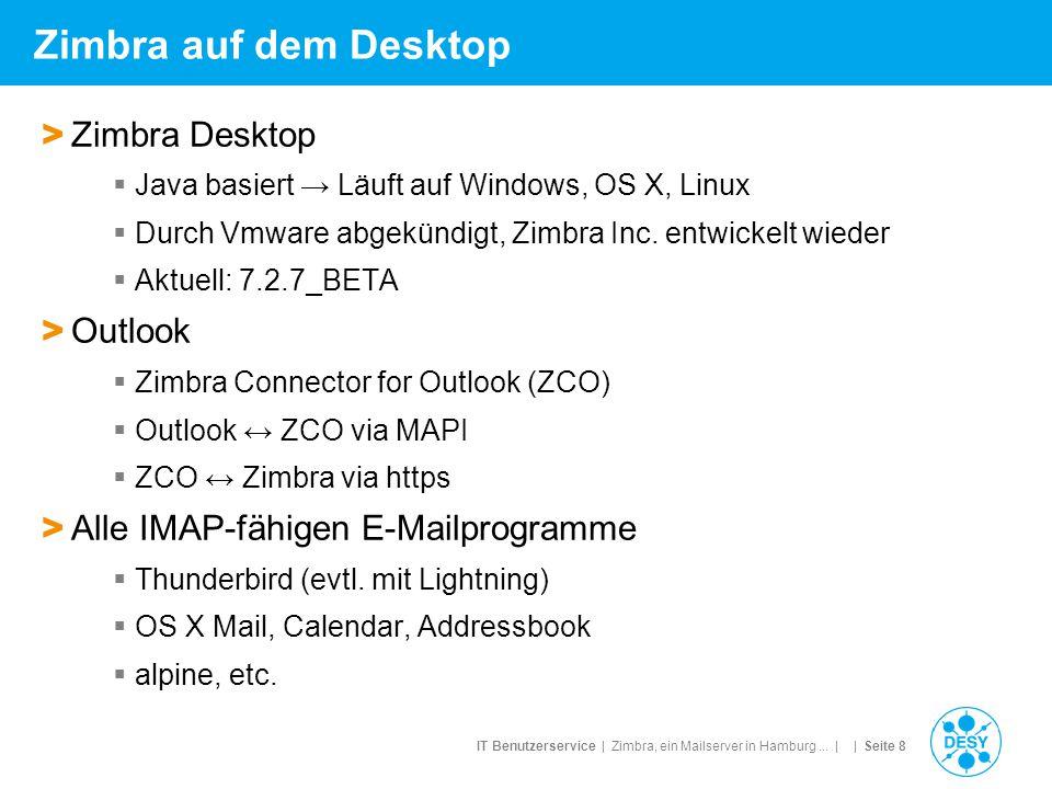 Zimbra auf dem Desktop Zimbra Desktop Outlook