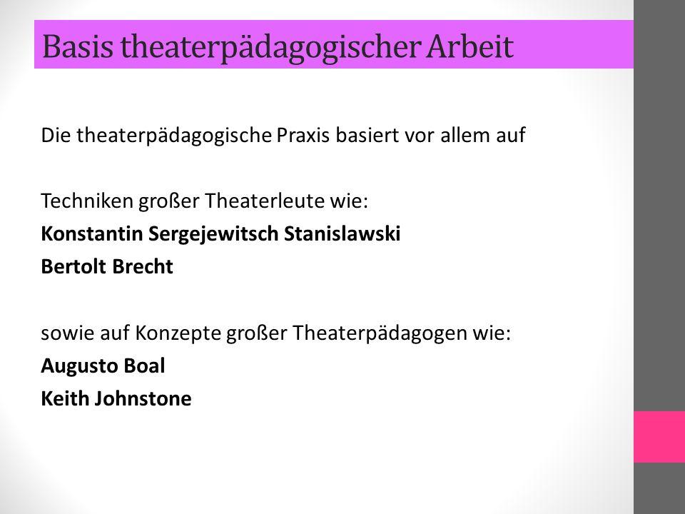 Basis theaterpädagogischer Arbeit