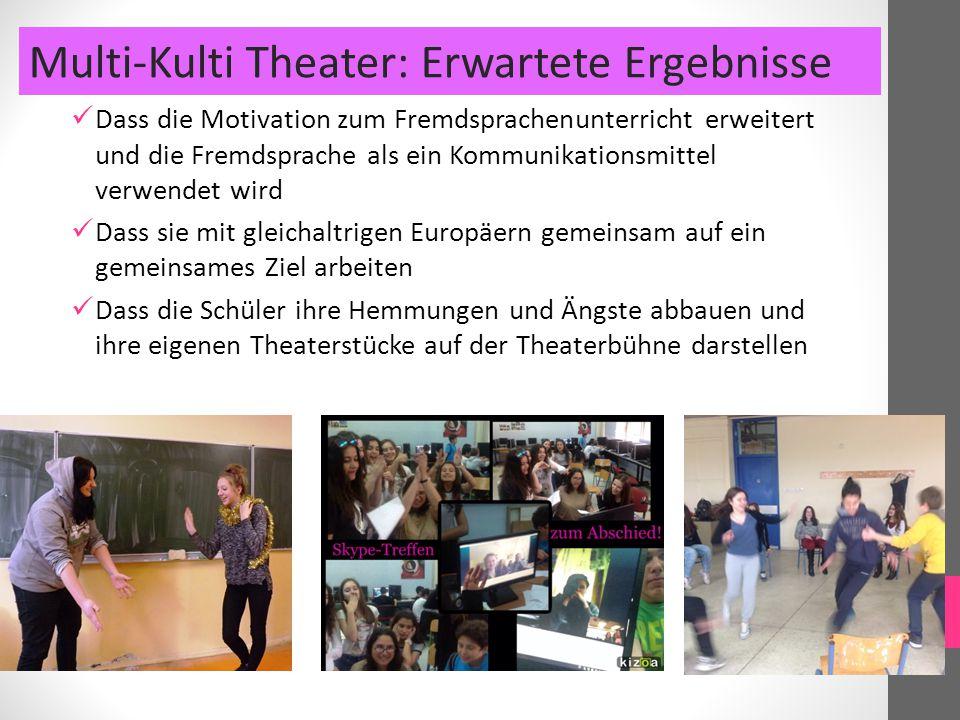 Multi-Kulti Theater: Erwartete Ergebnisse