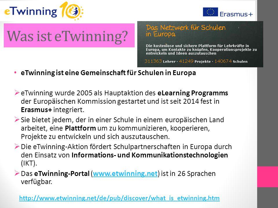 Was ist eTwinning eTwinning ist eine Gemeinschaft für Schulen in Europa.