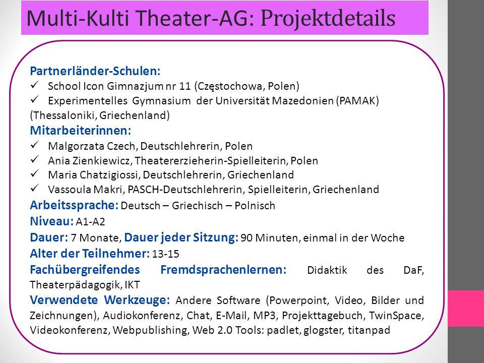 Multi-Kulti Theater-AG: Projektdetails