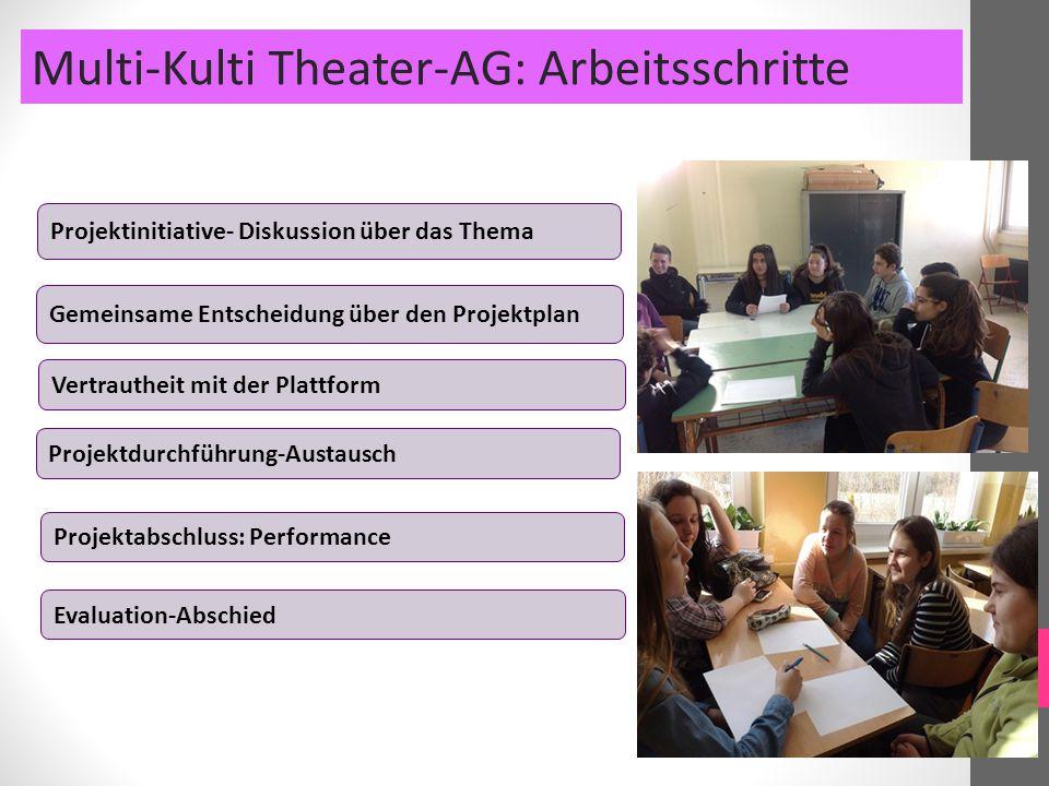 Multi-Kulti Theater-AG: Arbeitsschritte