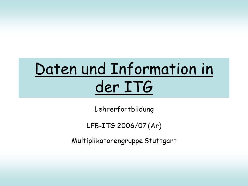 Daten und Information in der ITG